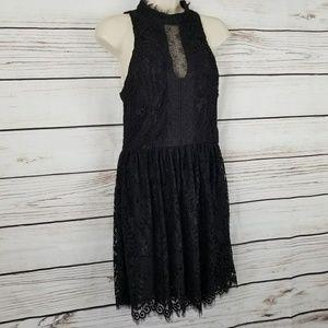 Trixxi Lace Open Back Button Midi Dress Gorgeous